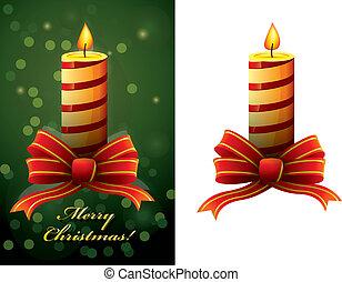 Vector de velas de Navidad