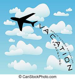 Vector de viajes de avión