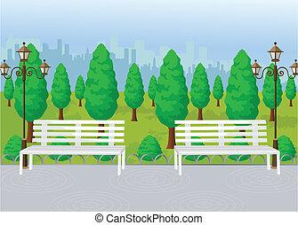 Vector de vista del parque