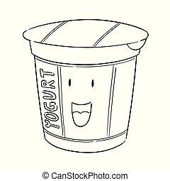 Vector de yogur