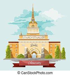 Vector del Almirantazgo construyendo San Petersburgo