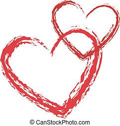 Vector del corazón del amor