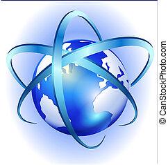 Vector del globo giratorio