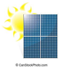 Vector del panel solar