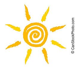 Vector del remolino solar