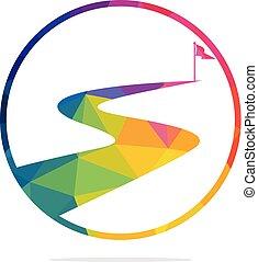 vector, design., éxito, manera, logotipo
