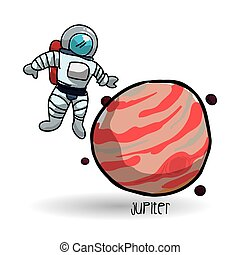 vector, design., icon., aislado, ciencia, espacio de la ilustración