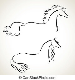Vector dibuja caballo