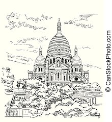 Vector dibujando a mano París 9