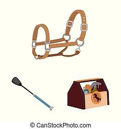 Vector diseño de caballo y icono ecuestre. Ilustración de vectores de caballos y caballos.