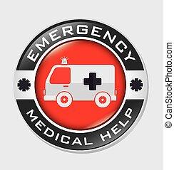 vector, diseño, emergencia, illustration.