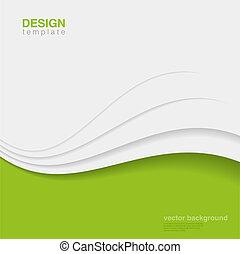 Vector ecológico abstracto. Diseño ecológico creativo