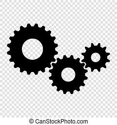 vector, engranaje, icono