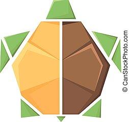Vector estilizado imagen de una tortuga