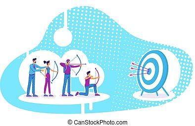 vector, estrategia, plano, ilustración negocio, concepto