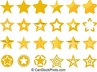 vector, estrellas, colección