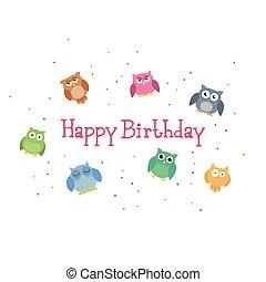 Vector feliz diseño de cumpleaños