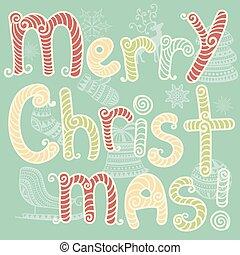 Vector Feliz Navidad tarjeta de felicitación