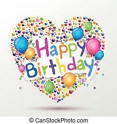 Vector feliz tarjeta de cumpleaños