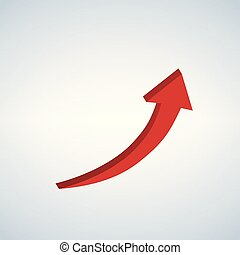 Vector firma flecha roja