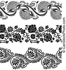 Vector floral bordes