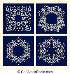 Vector floral marco vintage con espacio de copia para texto