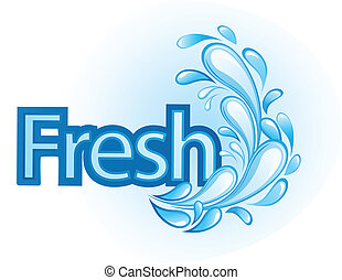 Vector fresco y de agua