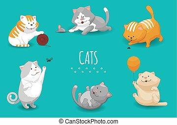 Vector gatitos lindos ilustración