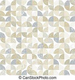Vector geométrico textil neutral patrón abstracto sin costura, cont