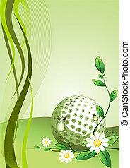 vector, golf, plano de fondo