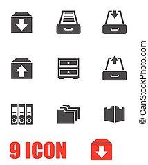 Vector Grey archivo icono establecido