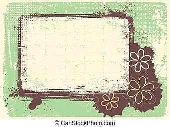 Vector grunge decoración Floral fondo para texto
