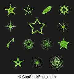Vector hermosas estrellas