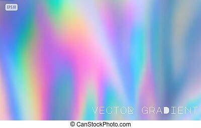 vector, holographic, fondo pastel, coloreado
