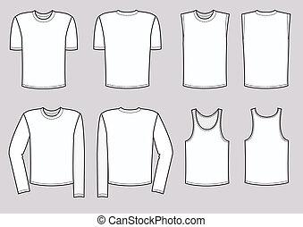 vector, hombres, ropa, illustration., ropa