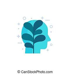 vector, icono, arte, crecimiento, personal