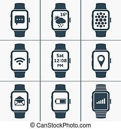 Vector icono conjunto de relojes inteligentes