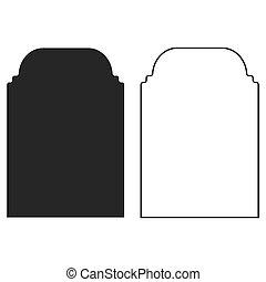 vector, icono, ventana, ilustración, islámico