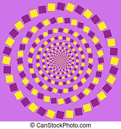 vector, -, ilusión, óptico