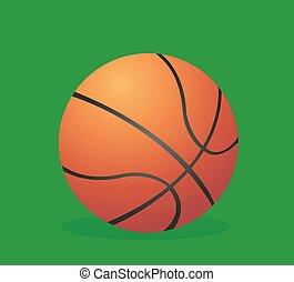 vector, ilustración, baloncesto