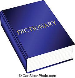 vector, ilustración, diccionario