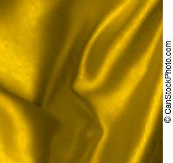 vector, ilustración, oro, colgadura