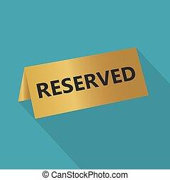 vector, ilustración, reserved-, inscripción, placa