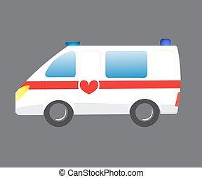 Vector ilustrador coche de ambulancia. Emergencia automática de ambulancia. Vehículo de ambulancia evacuación médica. Silueta de ambulancias