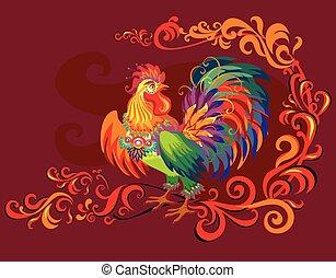 Vector imagen de gallo