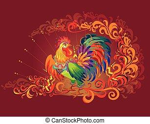 Vector imagen de gallo, el símbolo de Año Nuevo 2017