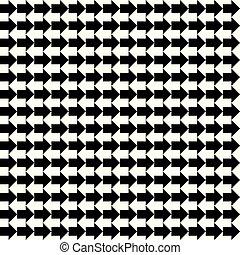 Vector inalámbrico flechas blancas negras marca textura