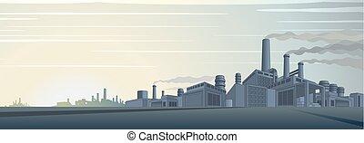 Vector industrial de paisajes urbanos