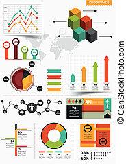 Vector infográfico fijado