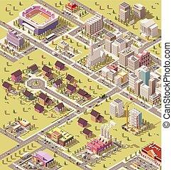 Vector isometría baja ciudad politécnica